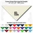"Custom Print Large Pet Triangle Natural Bandanna 22""x22""x29"" - Custom Print Large Pet Natural Bandanna, 22""x22""x29"",100% cotton, 5 star supplier."