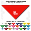"Custom Print Large Pet Triangle Red Bandannas - Custom Print Large Pet Red Bandanna, 22""x22""x29"",100% cotton, 5 star supplier."