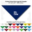 "Custom Print Large Pet Triangle Royal Bandannas 22""22""x29"" - Custom Print Large Pet Royal Bandanna, 22""x22""x29"",100% cotton, 5 star supplier."
