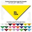 "Custom Print Large Pet Triangle Lemon Yellow Bandannas - Custom Print Large Pet Lemon Yellow Bandanna, 22""x22""x29"",100% cotton"