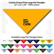 "Custom Print Large Pet Triangle Athletic Gold Bandannas - Custom Print Large Pet Triangle Athletic Gold Bandanna, 22""x22""x29"",100% cotton"
