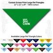 "Custom Print Large Pet Triangle Kelly Green Bandannas - Custom print large pet Kelly Green bandanna, 22""x22""x29"",100% cotton"