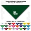 "Custom Print Large Pet Triangle Hunter Green Bandannas - Custom Print Large Pet Hunter Green Bandanna, 22""x22""x29"",100% cotton"