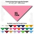 "Custom Print Large Pet Triangle Light Pink Bandannas - Custom Print Large Pet Triangle Light Pink bandanna, 22""x22""x29"",100% cotton"