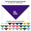 "Custom Print Large Pet Triangle Purple Bandannas 22""x22""x29"" - Custom Print Large Pet Triangle Purple Bandanna, 22""x22""x29"", 100% cotton"