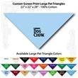 "Custom Print Large Pet Triangle Light Blue Bandannas - Custom Print Large Pet Triangle Light Blue Bandanna, 22""x22""x29"",100% cotton"