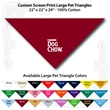 "Custom Print Large Pet Triangle Wine Bandannas - Custom Print Large Pet Triangle Wine Bandanna, 22""x22""x29"", Quality 100% cotton"