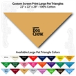 "Custom Print Large Pet Triangle Tan Bandannas 22""x22""x29"" - Custom Print Large Pet Triangle Tan Bandanna, 22""x22""x29"", Quality 100% cotton"