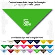 "Custom Print Large Pet Triangle Lime Green Bandanna - Custom Print Large Pet Triangle Lime Green Bandanna, 22""x22""x29"",100% cotton"