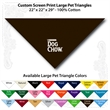 "Custom Print Large Pet Triangle Cocoa Brown Bandannas - Custom Print Large Pet Triangle Cocoa Brown Bandanna, 22""x22""x29"",100% cotton"