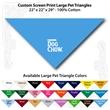 "Custom Print Large Pet Triangle Columbia Blue Bandannas - Custom Print Large Pet Triangle Columbia Blue Bandanna, 22""x22""x29"",100% cotton"