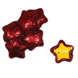 Chocolate Stars - Red - Chocolate stars candy with four color process decal on wrapper.