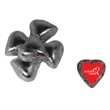 Chocolate Hearts - Silver - Chocolate Hearts individually wrapped candy with customizable foil wrapper.