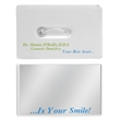 Credit Card Dental Floss w/Mirror - Plastic card with 10 1/2 yards of waxed dental floss and mirror.