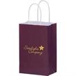 "Color Gloss Paper Shopper Bags - Foil Stamp - Color Gloss Paper Shopping Bag with Twisted Paper Handles (5""x3 1/2""x8"") - Foil Stamp"