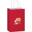 "Color Gloss Paper Shopper Bags - Foil Stamp - Color Gloss Paper Shopping Bag with Twisted Paper Handles (8""x4 3/4""x10 1/2"") - Foil Stamp"