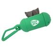 "Pet Waste Bag Dispenser With Carabiner - Refillable pet waste bag dispenser with carabiner that measures 1 3/4"" Diameter x 4 1/2"" W"