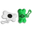 Bone-Shaped Pet Waste Bag Dispenser - 1 Color Imprint - Bone shaped pet trash bag dispenser with 20 poly bags included and one-color/one-location pad printed imprint.