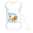 Bone-Shaped Pet Waste Bag Dispenser - Full Color Sticker - Bone shaped pet trash bag dispenser with 20 poly bags included and one-location full color process sticker imprint.