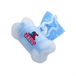 Clear Bone-Shaped Pet Waste Bag Dispenser-Full Color Sticker - Bone shaped pet trash bag dispenser with 20 poly bags included and a one-location full color process sticker imprint.