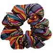 Guatemalan Scrunchies with Custom Labels - Hand Woven, Assorted Guatemalan Colors & Patterns