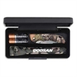 "AA Camo Mini Mag-Lite w/Bantam BBW Lockback Knife - MagLite flashlight, two AA batteries and a knife with 4"" handle and 3"" blade packaged in a presentation box"