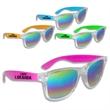 Premium Rainbow Lens Neon Sunglasses - Premium neon sunglasses with rainbow lenses.