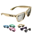 """Metallic Sunglasses - Colorful """"Blue's Brothers"""" style sunglasses with mirror lenses; 100% UVA and UVB protection."""