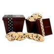 Small Tapered Cookie Box With Chocolate Chip Cookies