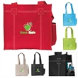 Double Stitch Tote - CLOSEOUT - Double Stitch Tote with sewn grips and side multi-media pocket.
