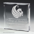 """1"""" Thick Scalloped Acrylic Paperweight Award-4"""" x 4"""" x 3/4"""""""