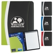 Color Curve Padfolio - Color Curve Padfolio with exterior slip pocket.