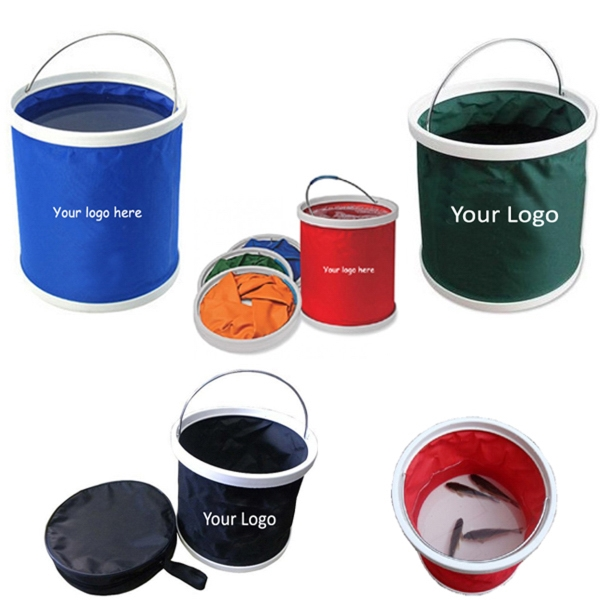 Folding Water Bucket With Zipper Bag (9L)