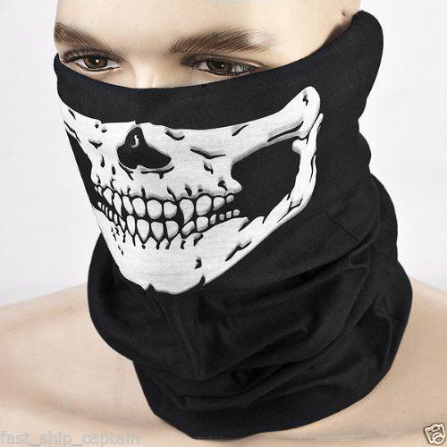 Mask with human skeleton pattern