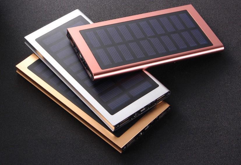 6000mAh Dual USB Solar Power Bank External Battery