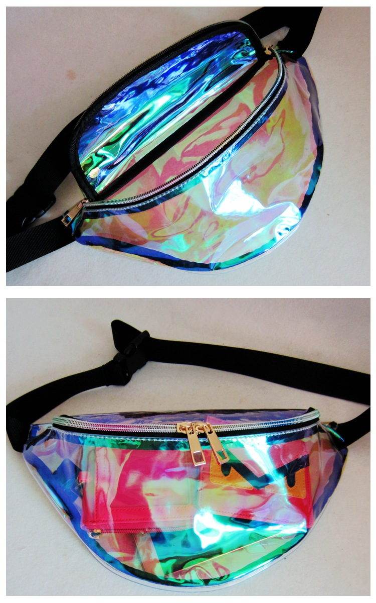 Neon Colorful Waterproof Vinyl Fanny Packs/ Waist Bag