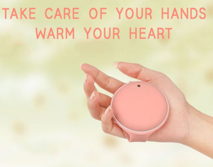 Brecelts Hand Warmer Power Bank Winter Gifts Pink Color
