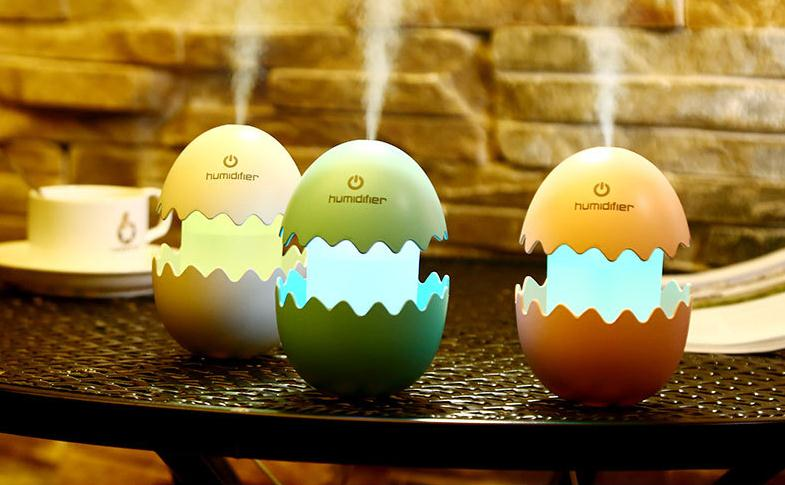 Funny Egg Air Humidifier with 7 Color Light USB Cable