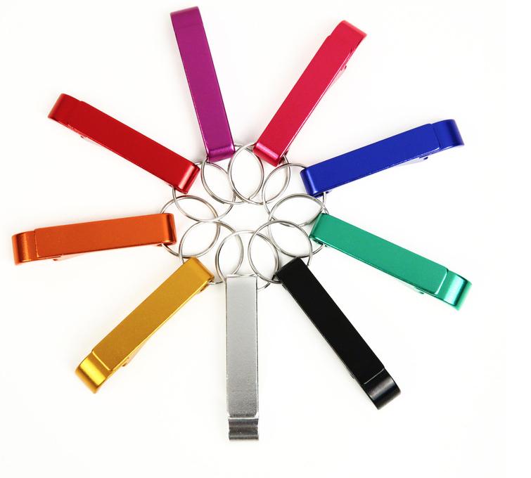 Keychain Bottle Opener Bartender Aluminum Keyring Colors