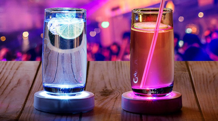 Black with Color Changing LED Lights Coaster