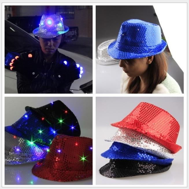 Women Men Led Light Up Jazz Costume Party Hat