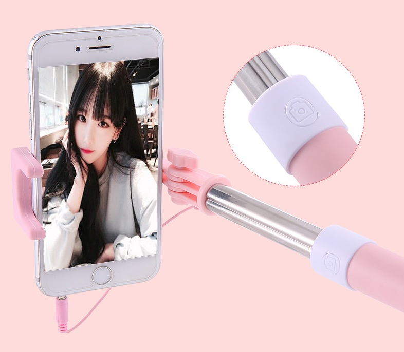 Mini Wired Handheld Selfie Stick with Standard 3.5MM Port