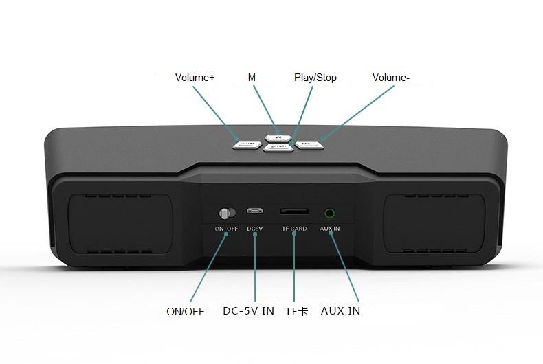 Portable Music Player Wireless Bluetooth Speaker