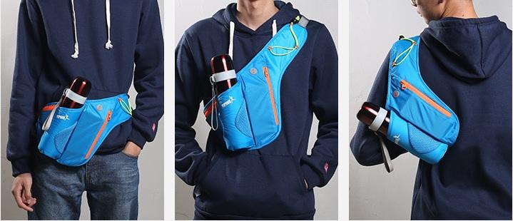 Bottle Holder Nylon Water Resistant Sport Running Waist Bag