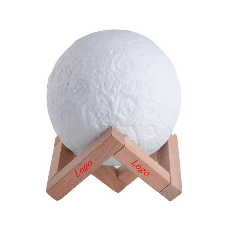 13cm 3D LED Night Light Buletooth Dimmable Touch Moon Lamp