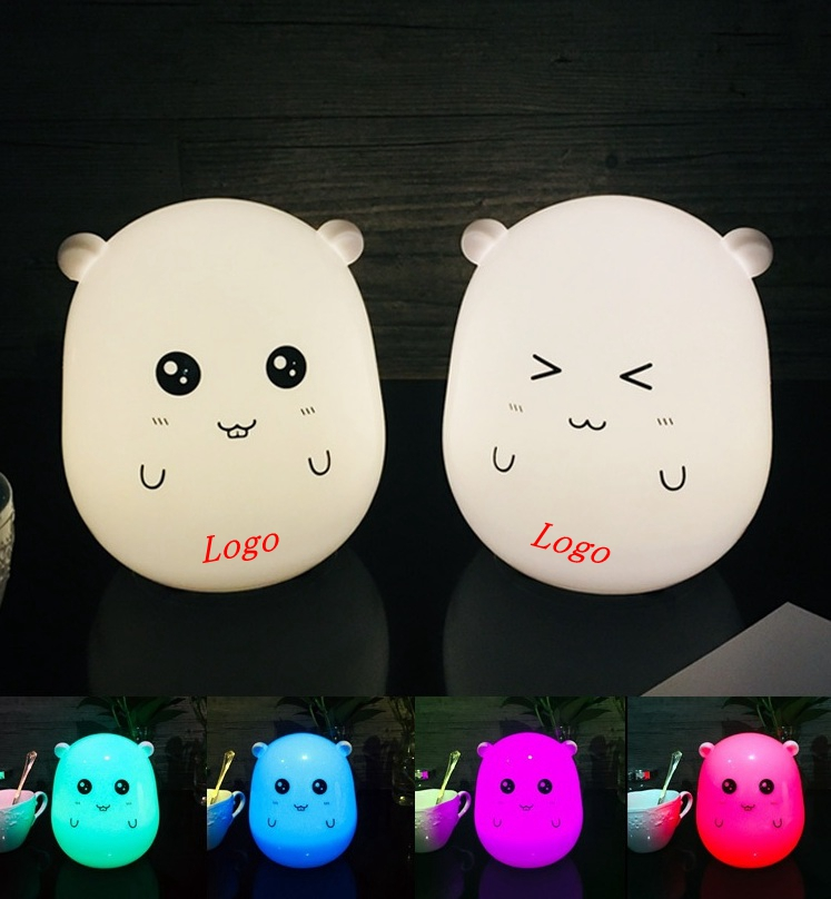 Cute LED Touch Control Children Kids Baby Night Light Lamp