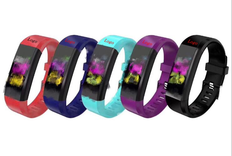 Bluetooth Waterproof Smart Watch Color Screen Smart Bracelet