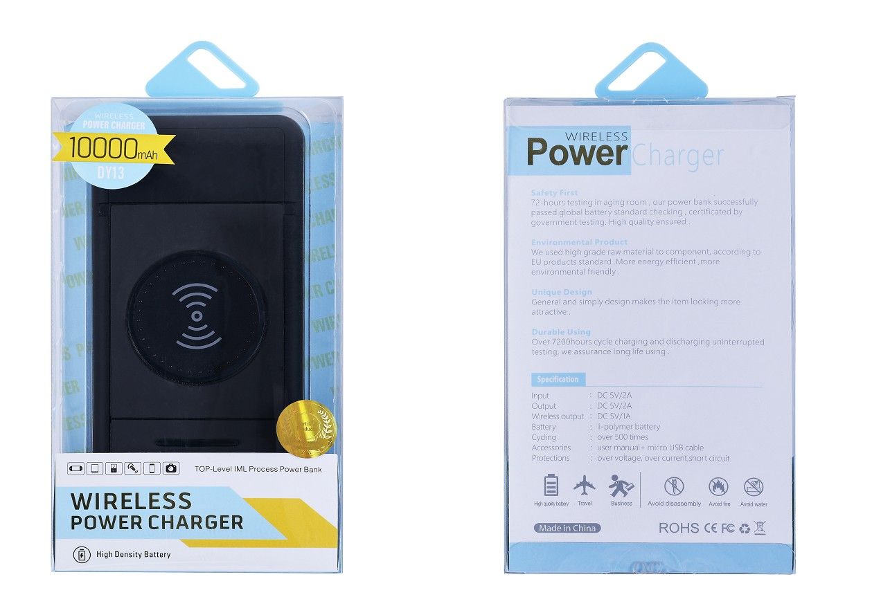 Fast Charging LED Display Wireless Power Bank 10000 mAh