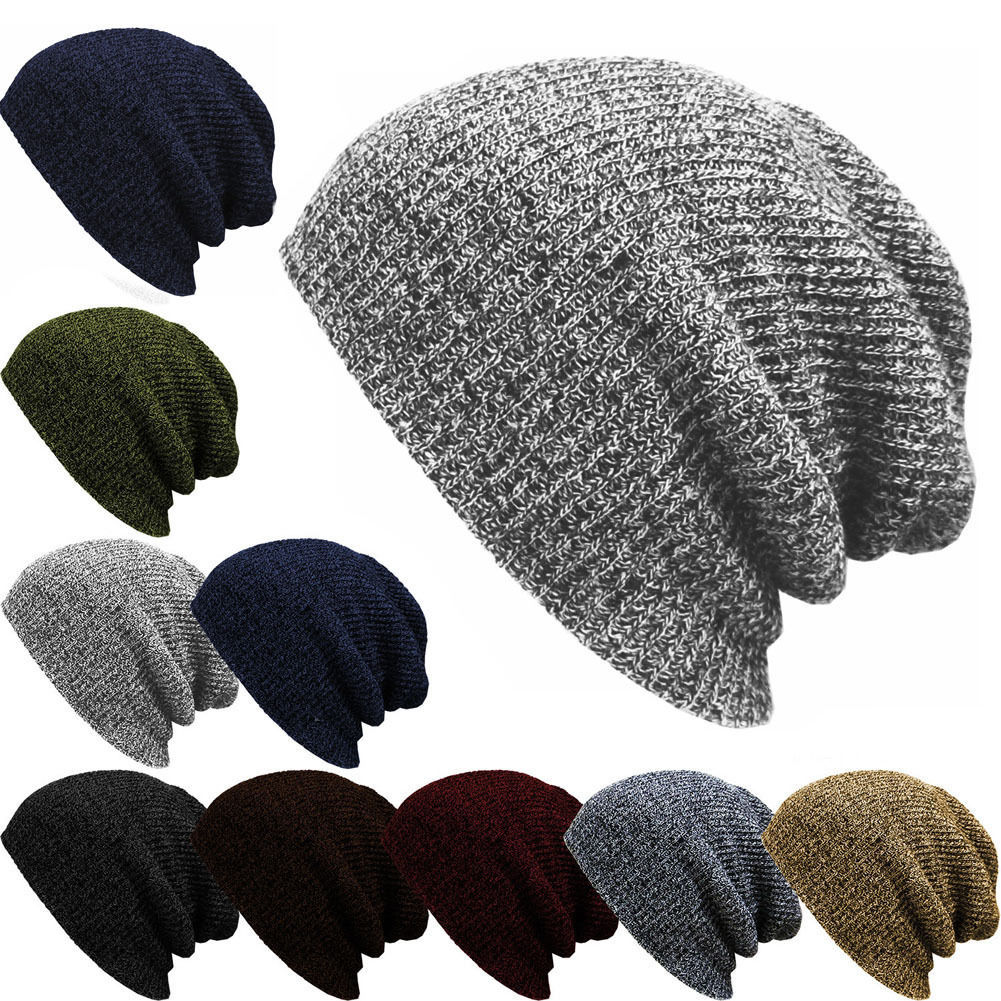 Winter Hats Knit Slouchy Beanie Warm Hat Baggy Skull Cap