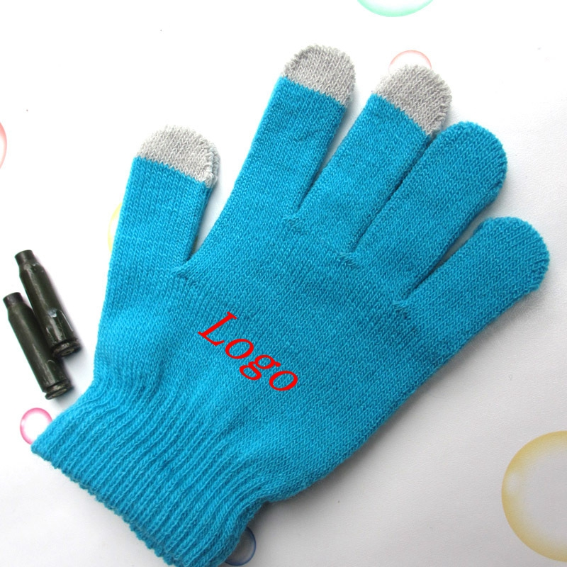 Winter Warm Knit Wool Lined Texting Touchscreen Gloves